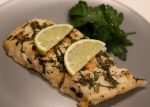 Corvina fish in lime marinade makes perfect protein dish for dinner